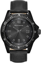 Skechers Mens Black Leather Strap Analog Watch