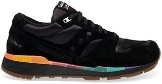 Saucony Azura Suede Woven Low-Top Sneakers