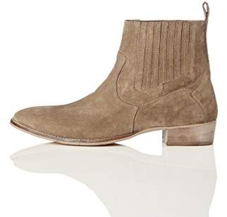 Carlisle find. Men's Chelsea Boots, Brown (Taupe)