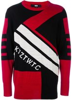 Kokon To Zai geometric intarsia jumper