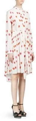 Alexander McQueen Silk Petal Print Shirt Dress
