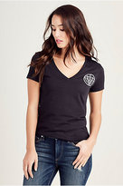 True Religion True Logo Vneck Womens Tee
