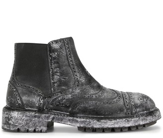 Dolce & Gabbana distressed Chelsea boots