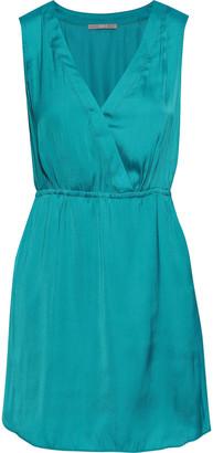 Tart Collections Annalisa Wrap-effect Satin-crepe Mini Dress