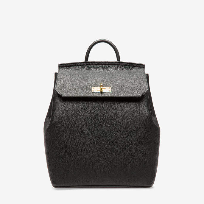 Bally New Backpack Black, Women's calf leather backpack in black
