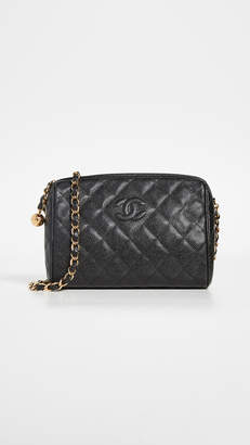 Black Diamond What Goes Around Comes Around Chanel CC Camera Bag