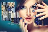 Nails inc London Bling it on Denim & Studs Nail Polish Kit Women Beauty Make up by Nail Inc
