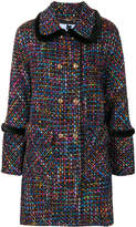 Blumarine double breasted tweed coat