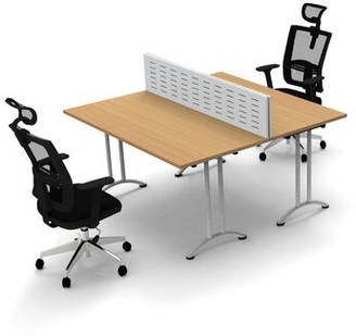 Inbox Zero Work Station Compact Space Maximum Collaboration Rectangular Meeting Table Set Top Finish: Beech