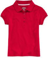 IZOD EXCLUSIVE IZOD Short-Sleeve Picot Collar Polo - Preschool Girls 4-6x