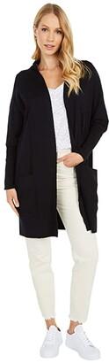 Pact Organic Cotton Airplane Cardigan (Black) Women's Clothing
