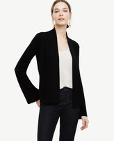 Ann Taylor Cashmere Bell Sleeve Open Cardigan