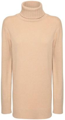 Max Mara Wool Blend Turtleneck Sweater Dress