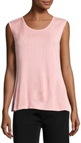 Misook Scoop-Neck Tank, Pink