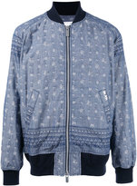 Sacai Aloha printed bomber jacket - men - Cotton/Cupro - 2