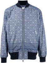 Sacai Aloha printed bomber jacket