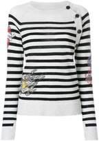 Zadig & Voltaire Reglis striped embellished top