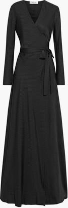 Diane von Furstenberg Tilly Silk-jacquard Maxi Wrap Dress