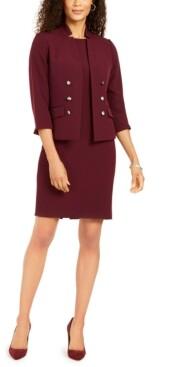Le Suit Petite Embellished Dress Suit
