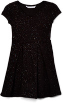 Aeropostale P.S. From p.s. from Girls' Casual Dresses BLACK - Black Rainbow Glitter A-Line Dress - Girls