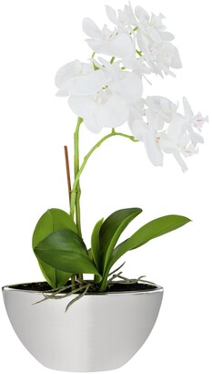 Large Orchid Artificial Arrangement in Mirrored Pot