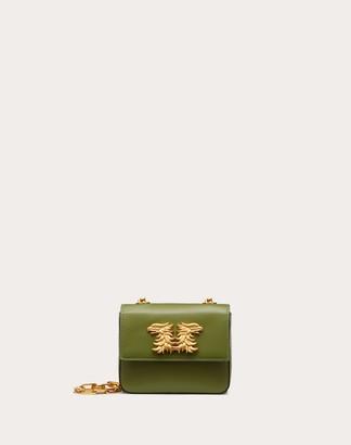 Valentino Mini Crossbody Bag In Glossy Calfskin With Griffin Accessory Women Multicolored 100% Pelle Di Vitello - Bos Taurus OneSize