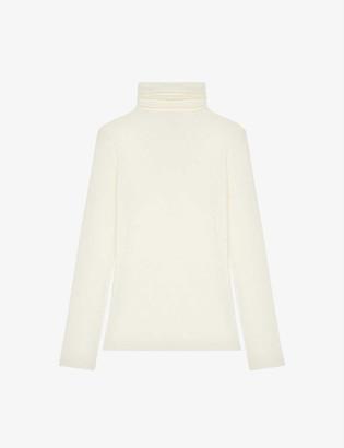 Maje Thom fitted wool-blend turtleneck jumper