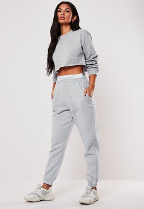 Missguided Grey Taped Joggers