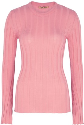 Maggie Marilyn The Sherbet Ribbed Wool-blend Top