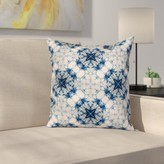 "Indian Tie Dye Elegant Square Pillow Cover East Urban Home Size: 16"" x 16"""