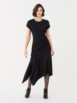 Diane von Furstenberg Giovanna Wool-Blend Asymmetrical Midi Dress