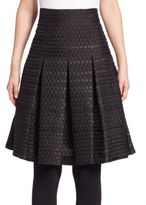 Akris Punto Dot Jacquard Full Skirt