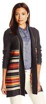 Pendleton Women's Petite Park Stripe Cardigan Sweater