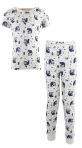 Touched by Nature Baby Girls and Boys Woodland Tight-Fit Pajama Set, Pack of 2