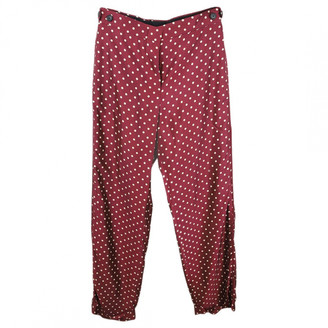 Louis Vuitton Red Viscose Trousers