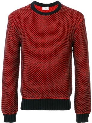 Ami Paris Crewneck Birdseye Stitch Sweater