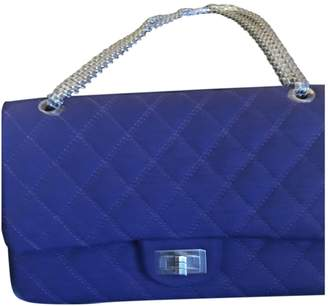 Chanel 2.55 Purple Wool Handbags
