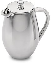 Café Ole 3 Cup Double Walled Bellied Cafetiere Coffee Maker, Mirror, 0.35 Litre