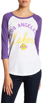 Junk Food Clothing Los Angeles Lakers 3/4 Length Sleeve Tee