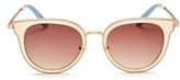 Toms Rey Cat Eye Sunglasses, 47mm