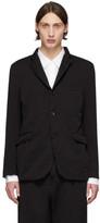 Comme des Garcons Homme Homme Black Twill Garment-Dyed Blazer