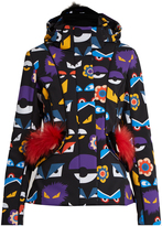 Fendi Wonders Eye-print fur-trim ski jacket