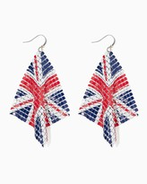 Charming charlie Union Jack Flag Dangle Earrings