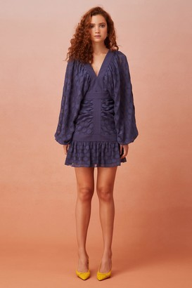 Keepsake AFLOAT LONG SLEEVE MINI DRESS midnight