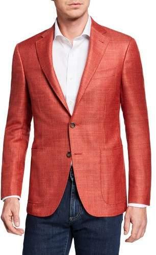 Canali Men's Wool/Linen Blazer Jacket