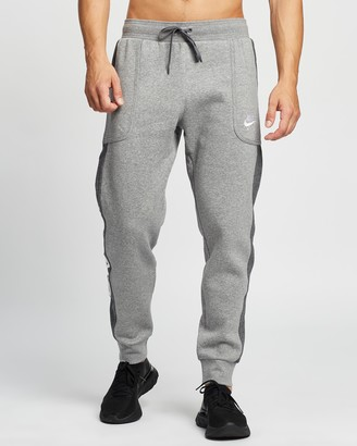 Nike Men's Grey Hoodies - Air Fleece Jogger Sweatpants - Size XS at The Iconic