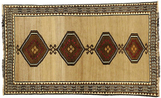 "One Kings Lane Vintage Persian Shiraz Rug - 4'3"" x 7'1"" - Esmaili Rugs & Antiques - brown/tan/red/cream"