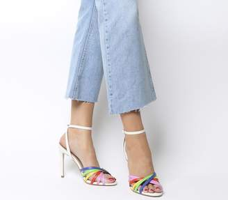 Office Honeycomb Strappy Heels Bright Mix