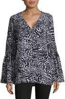 MICHAEL Michael Kors Printed Bell Sleeve Tunic