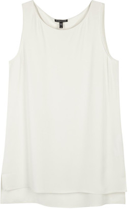 Eileen Fisher System Ivory Silk Crepe Top